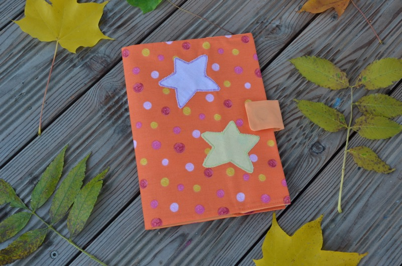 Cahier étoiles orange