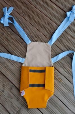 Parachute anti-reflux jaune et beige