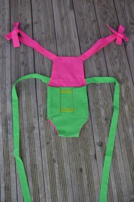 Parachute anti-reflux vert et rose