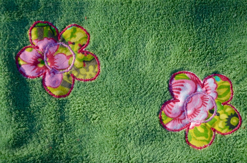 Tour de cou Vert Fleurs