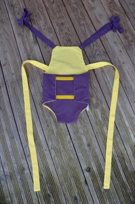 Parachute anti-reflux aubergine et jaune
