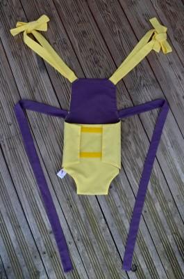 Parachute anti-reflux jaune et aubergine