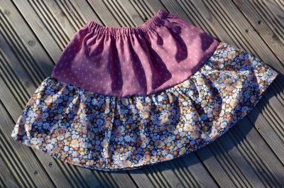 Jupe Liberty Vieux rose