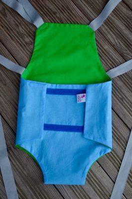 Parachute anti-reflux bleu et vert