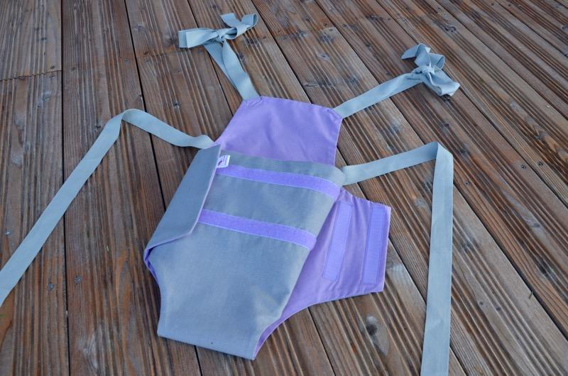 Parachute anti-reflux gris et mauve
