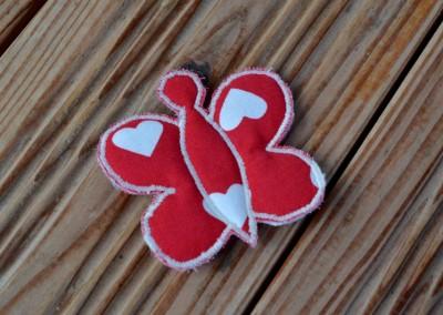 Barrette papillon rouge