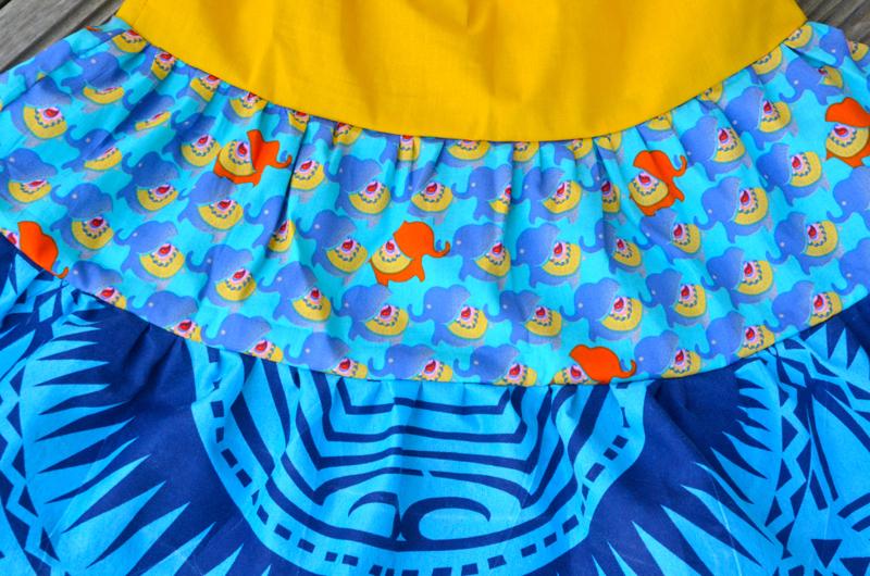 Jupe Eléphants Bleus