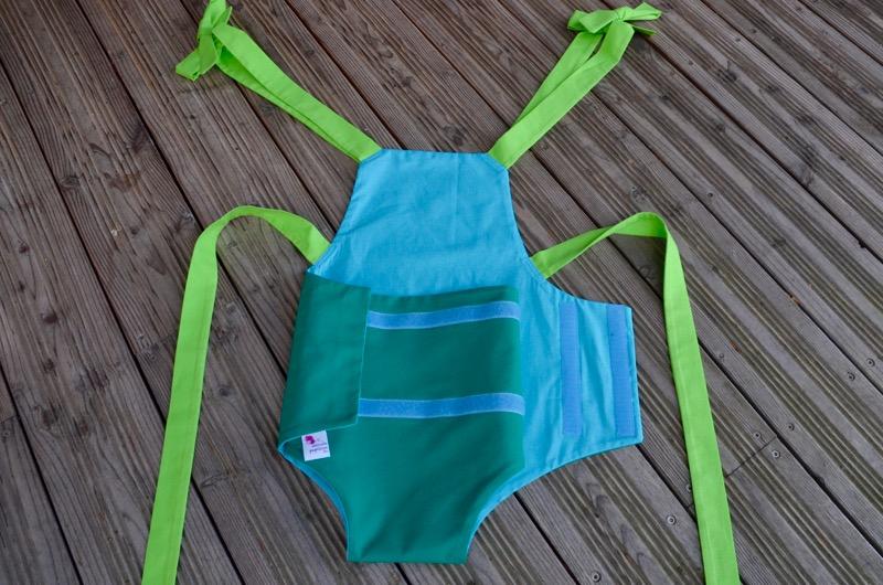Parachute anti-reflux vert et bleu