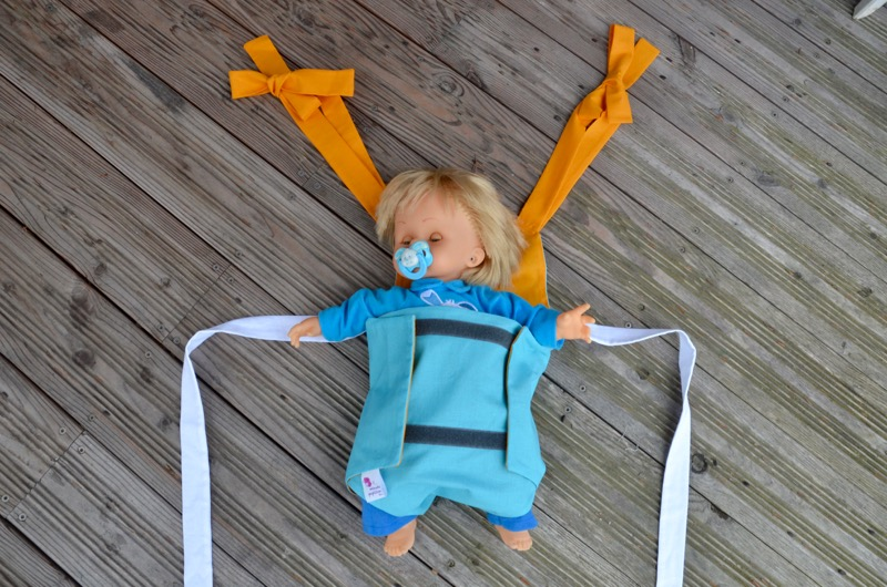 Parachute anti-reflux bleu et jaune